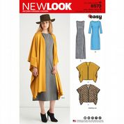 6573 New Look Pattern: Misses' Dress and Poncho